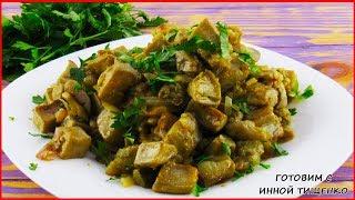 Баклажаны как грибы, жареные с луком | Как приготовить вкусные баклажаны