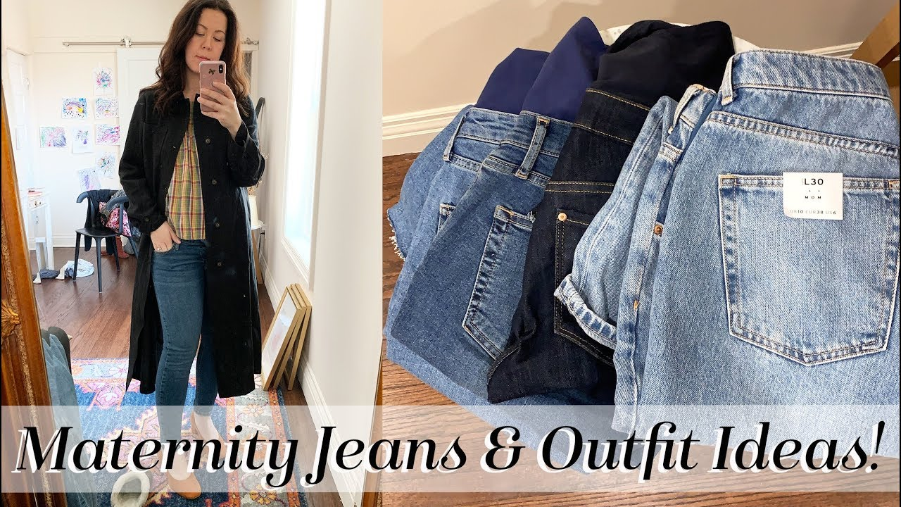 821b3ecf11d7d Bump-Friendly Outfits & Affordable Maternity Jeans | Kait Bos - YouTube