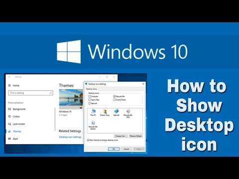 How to Show Desktop icon on your Laptop or Computer