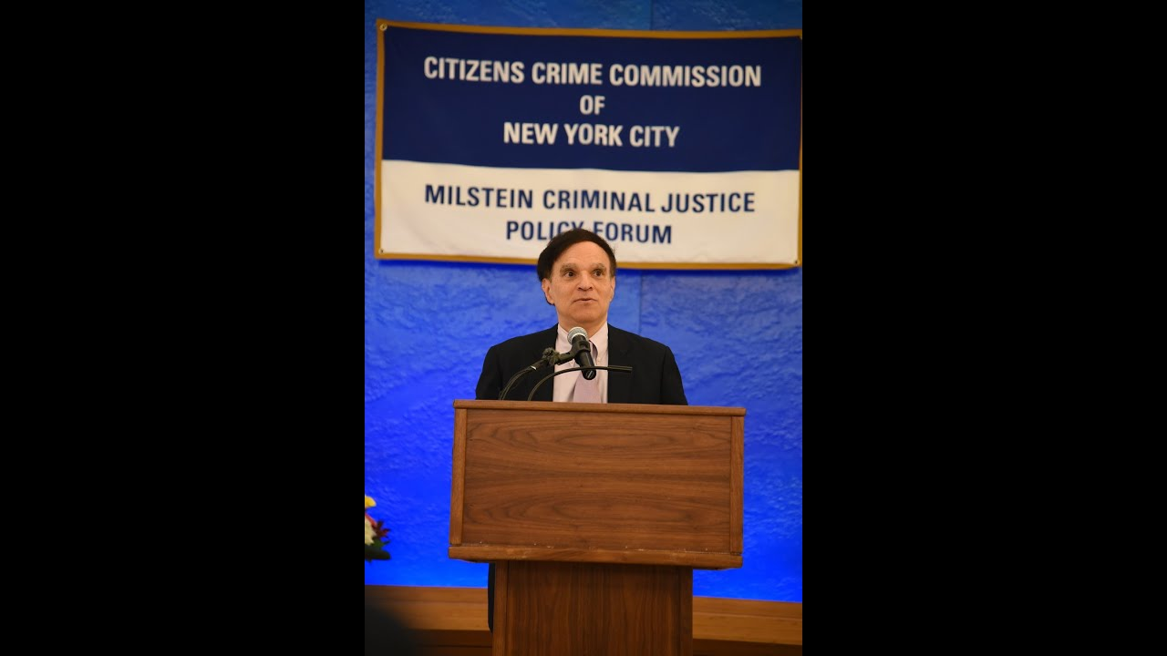 Citizens Crime Commission Milstein Forum Featuring 2nd Circuit Chief Judge Robert A Katzmann
