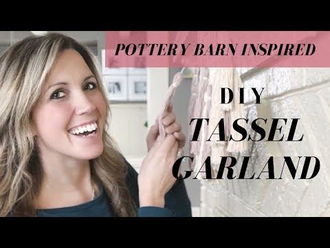 Pottery Barn Hack: DIY Tassel Garland (Saves over $60!!)