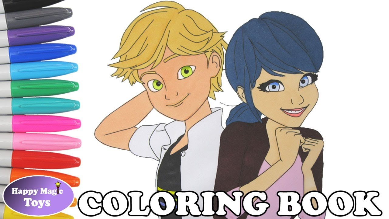 Marinette and Adrien Coloring Book Pages Miraculous