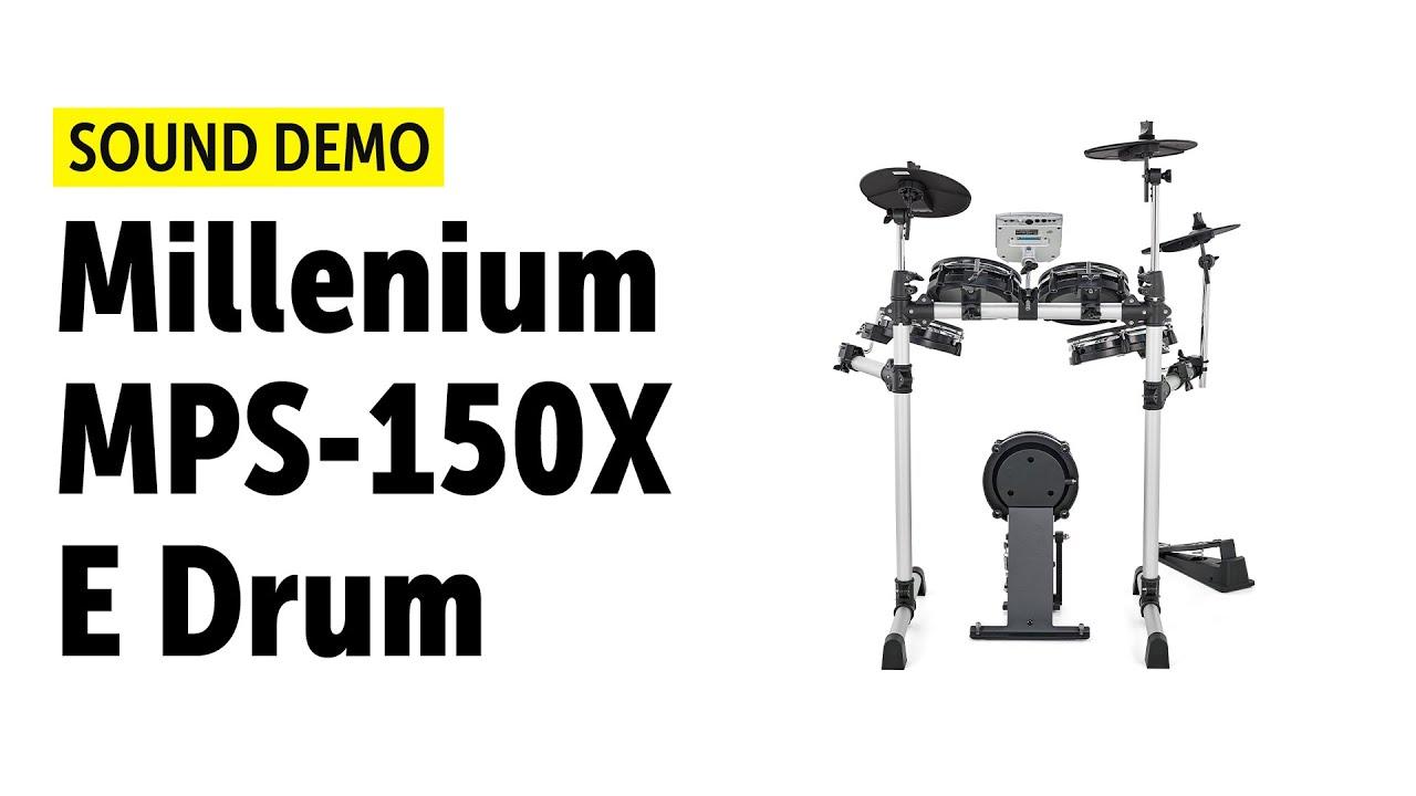 millenium mps 150x e drum sound demo