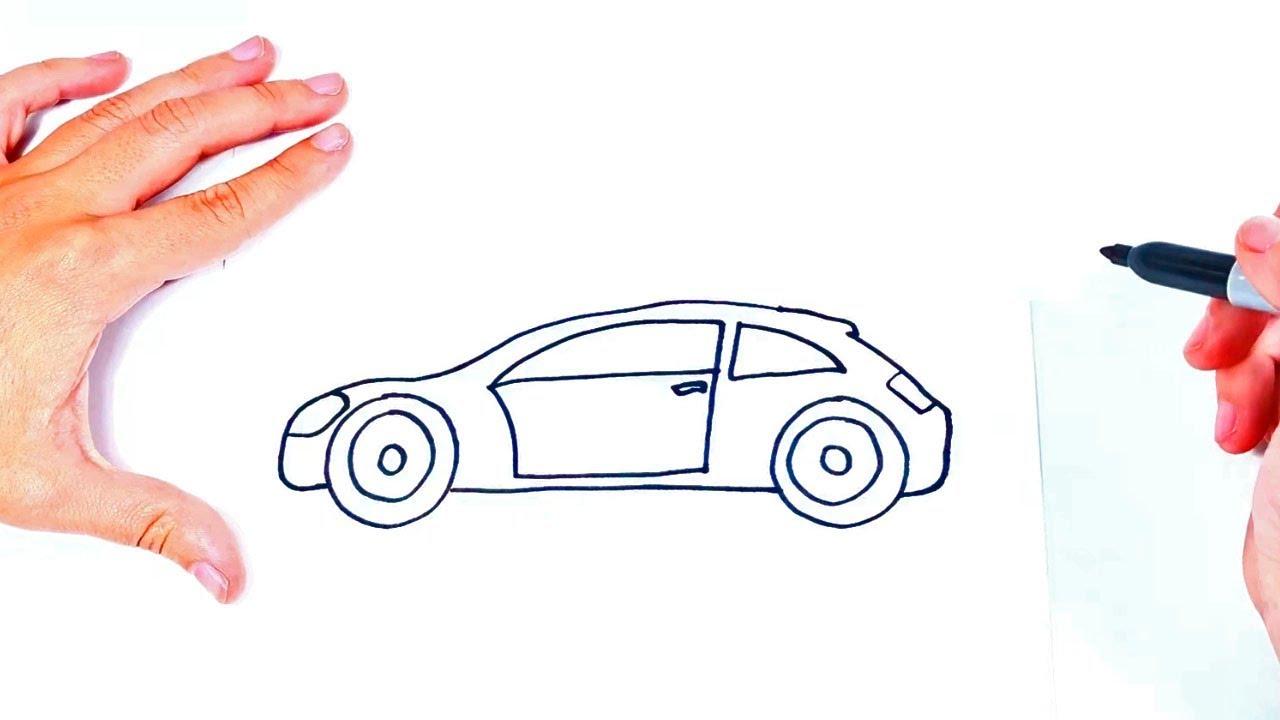 Como dibujar un Coche o Carro Paso a Paso - YouTube