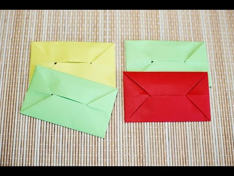 Easy Origami Envelope วิธีพับซองจดหมาย
