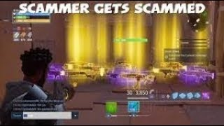 SCAMMER GETS SCAMMED FOR HIS WHOLE INVENTORY *MUST WATCH* ( Fortnite Save The World PVE )