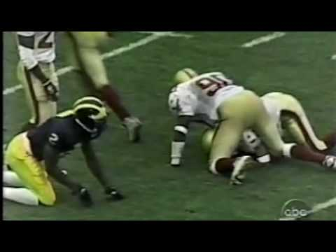 Charles Woodson at Wide Receiver Gets Laid Out by FS