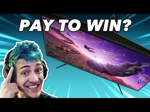 Ninja's $500 Monitor Feels Like CHEATING, We Try It In Fortnite