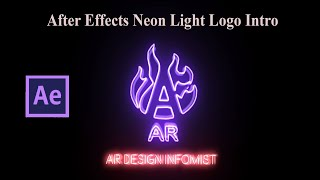 Electricity 3D Neon Digital Light Logo Animated after effects