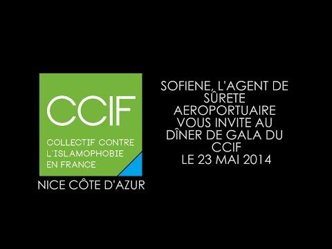 Sofiene, l'agent de sûreté aéroportuaire de Nice vous invite au dîner de gala du CCIF.