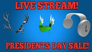 🔴 ROBLOX PRESIDENTS DAY SALE 2019! WAITING FOR START 🔴