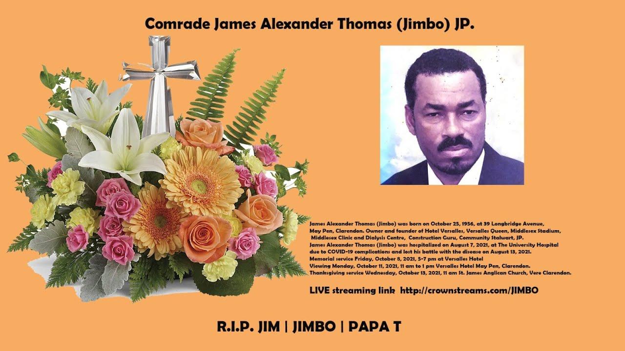 Download James Alexander Thomas -Jimbo Memorial & Tributes Service -Friday