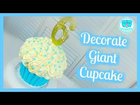 Decorate Giant Cupcake Basics