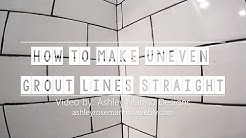 How To Make Uneven Grout Lines Straight // How to Remove Grout