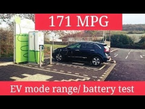Kia Niro Plug In / EV mode Range / Baterry test (ENG)