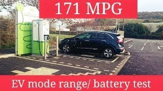 Kia Niro Plug In / EV mode Range / Baterry test (ENG)