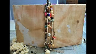 How to Make a Beaded Spine Dangle for Your Junk Journals! Spine Jewelry! The Paper Outpost! :)