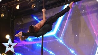 Preview: Saulo Sarmiento takes pole dancing to a new level | Britain's Got Talent 2016