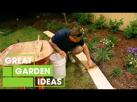 Gardening how to make great garden edging youtube Better homes and gardens flower bed designs