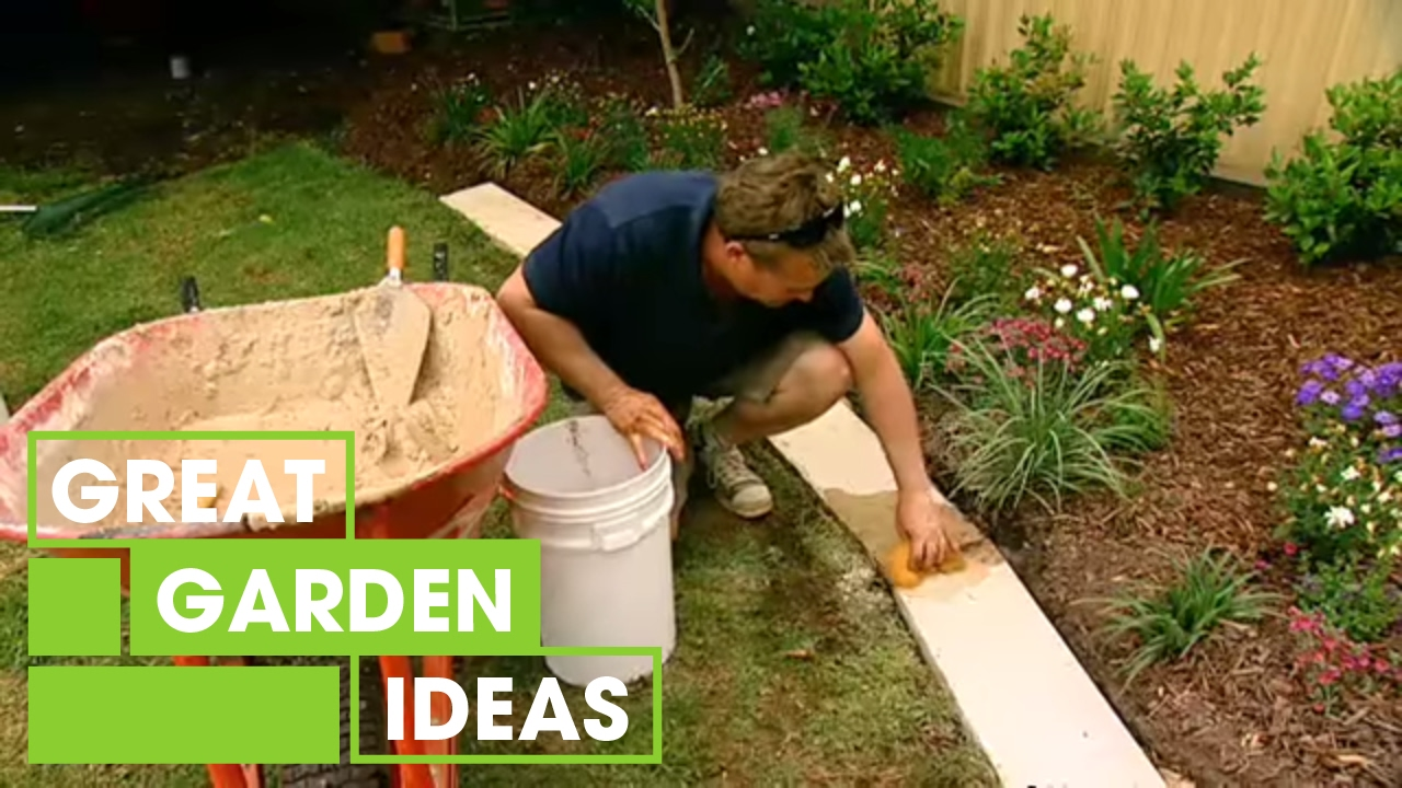How To Make Great Garden Edging | Gardening | Great Home Ideas - YouTube
