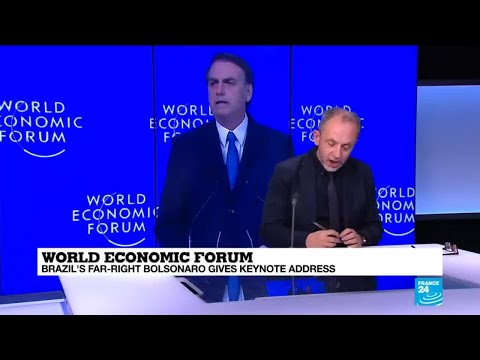 World Economic Forum: Brazil's Bolsonaro gives keynote addre