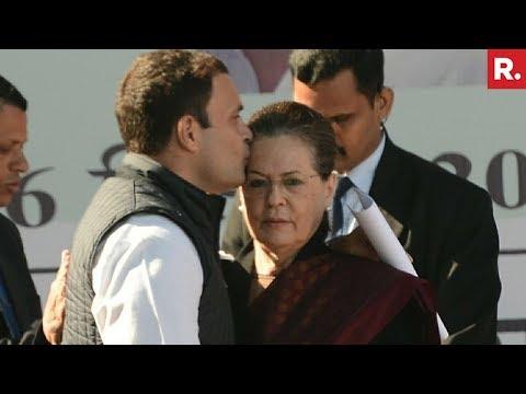 Sonia Gandhi Congratulates & Blesses Rahul Gandhi - Full Speech