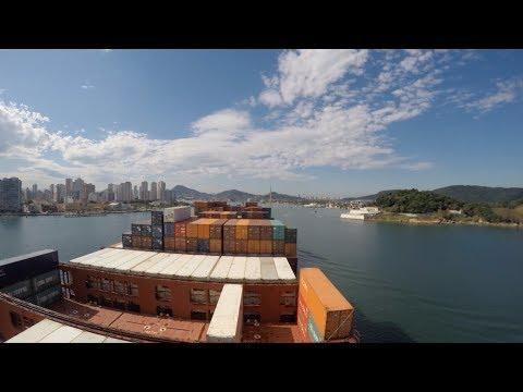 [Timelapse] Hapag-Lloyd vessel at Port of Santos | Hapag-Lloyd