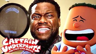 go behind the scenes of captain underpants with kevin hart animation 2017