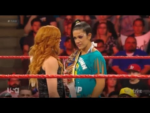 Becky lynch and Bayley vs Lacey Evans and Alexa Bliss Raw 6/10/2019 HD
