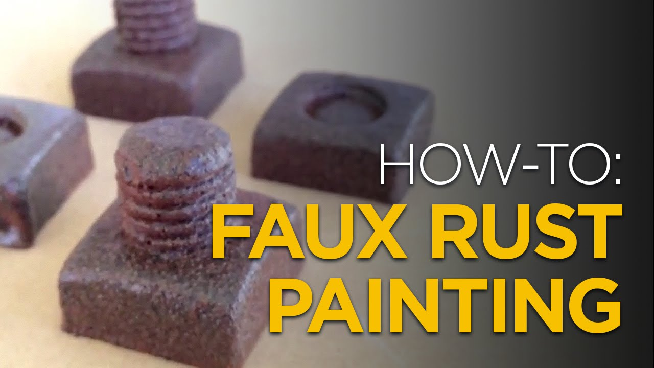 HOW TO Faux Rust Painting With Spraypaint