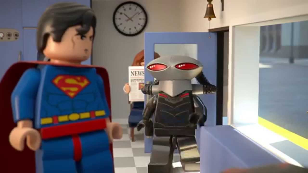 Superman At The Dry Cleaners Lego Dc Comics Super Heroes Mini Movie Youtube