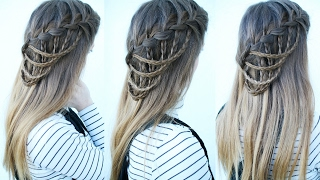 Cascading Waterfall Braid | Waterfall Braid Hairstyles | Braidsandstyles12