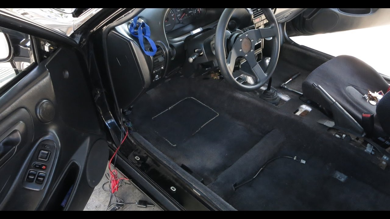Acura Integra Carpet Removal Youtube