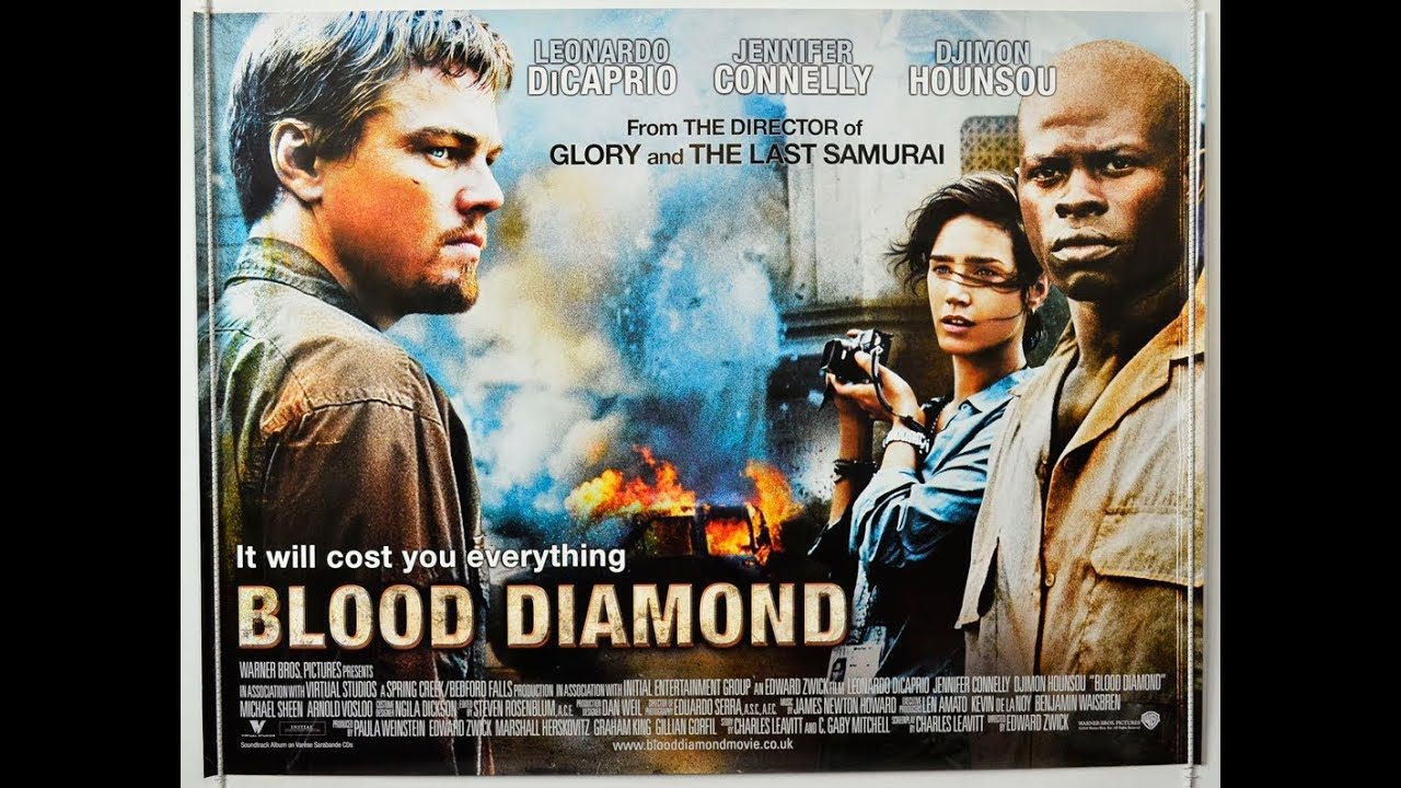 "political review of blood diamond The makers of ""blood diamond,"" an exceptionally foolish thriller starring a most excellent leonardo dicaprio, want you to know there may be blood on your hands, specifically your wedding."