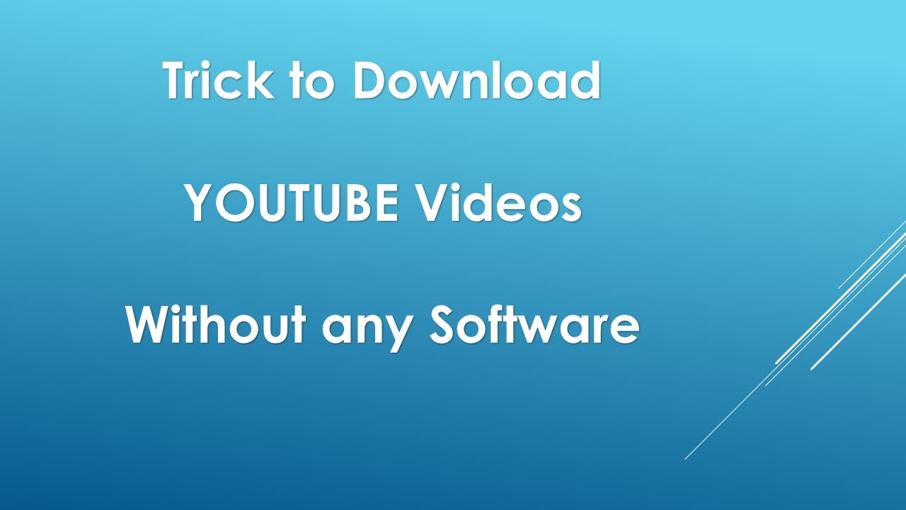 how to download youtube videos using the ss trick