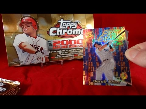 RETRO BOX: 2000 Topps Chrome Baseball Box Break, Derek Jeter !!! Refractor Mojo