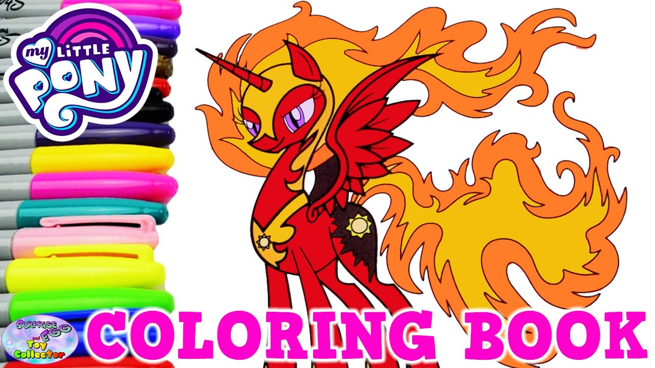 My Little Pony Coloring Book Nightmare Celestia Solar
