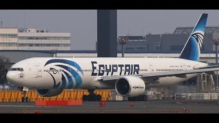 ✈Charter Flight エジプト航空 (EgyptAir)Boeing 777-36N/ER Take off Narita RWY16R成田空港! さくらの山 公園