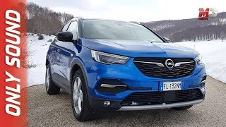 NEW OPEL GRANDLAND X 2018 - FIRST SNOW TEST DRIVE ONLY SOUND