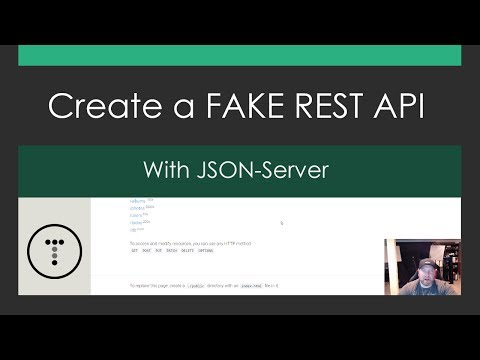 Create a Fake REST API with JSON-Server