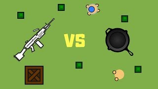 M249 VS PAN! SURVIV.IO MELEE ONLY CHALLENGE!