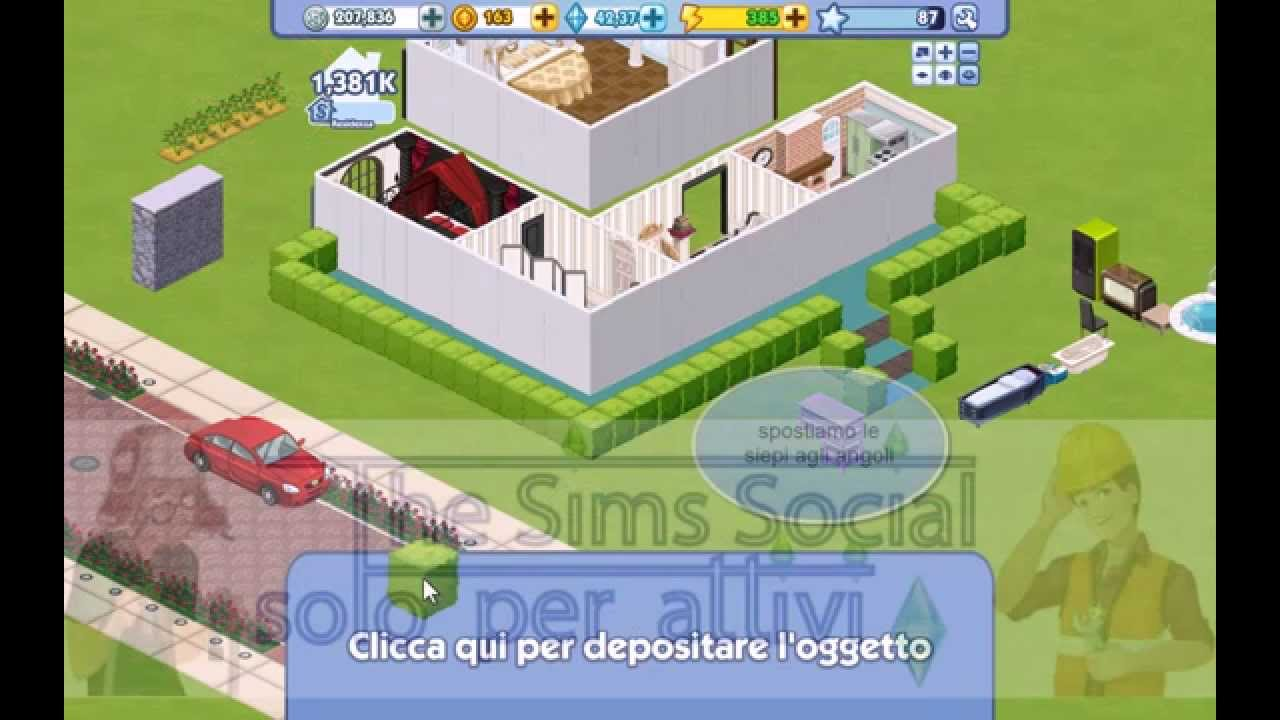 How to build 2nd floor come costruire il secondo piano for How to make a second floor on sims freeplay