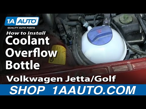 How to Replace Radiator Coolant Overflow Bottle 99-05 Volkswagen Jetta or Golf