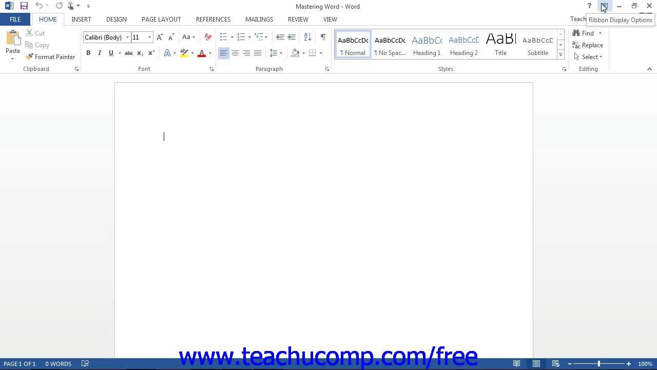 Word 2013 Tutorial The Title Bar Microsoft Training Lesson