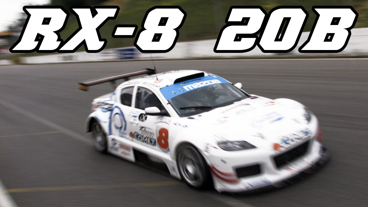 Mazda RX-8 3-rotor 20b race car BTCS - YouTube