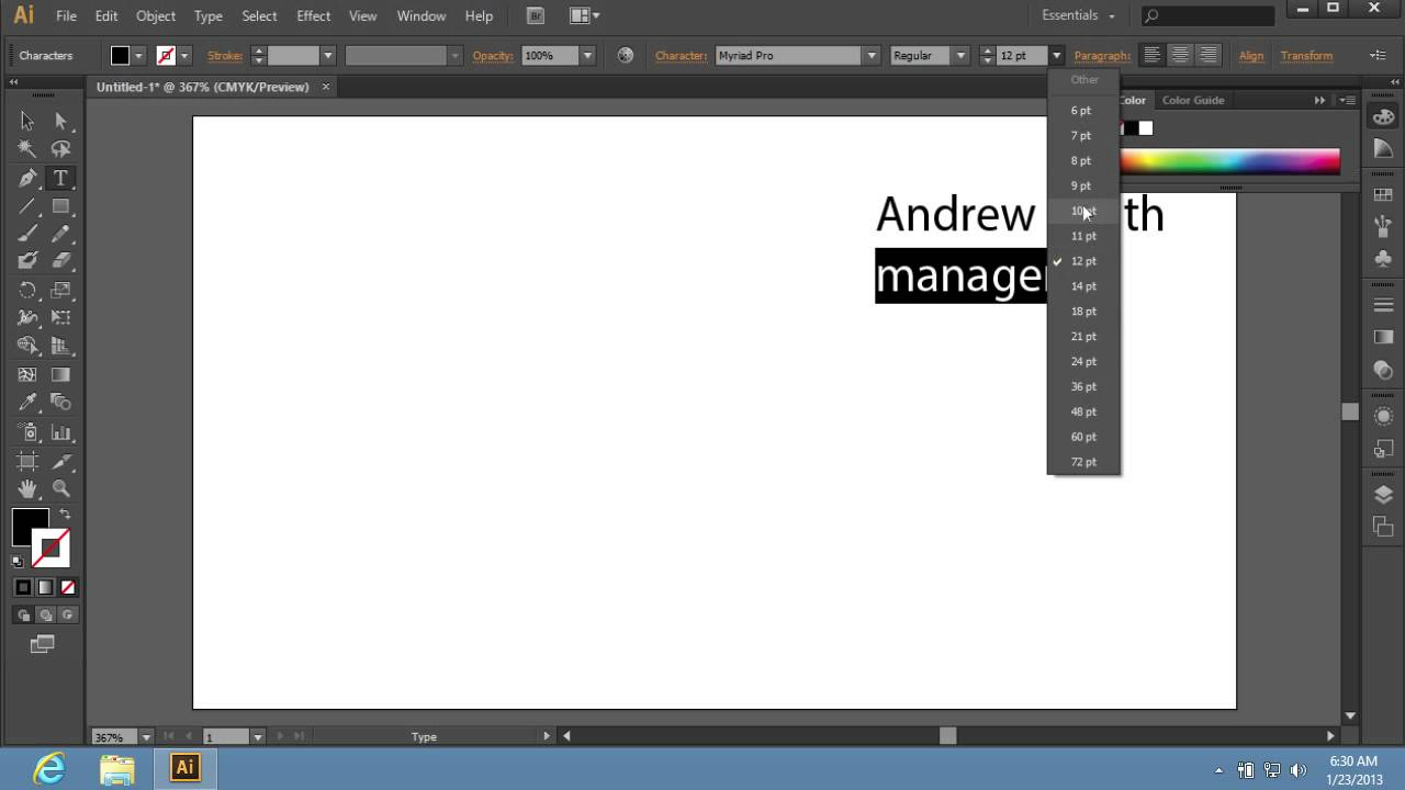 How To Create Adobe Illustrator Cs6 Templates Youtube