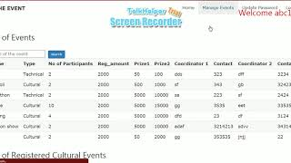 Web Development project on Event Management created using HTML,CSS,Bootstrap,PHP & MYSQL