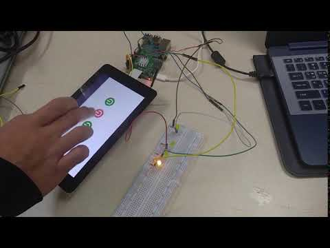 Android Things 4 LED Switchs on Raspberry Pi 3 - LCD Display Control 라즈베리파이 3 안드로이드 씽스 LED 4개