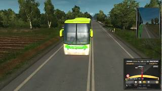 Ets 2 bus driving  with indian bus air horn