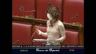 L'onorevole Occhionero interviene alla Camera sul deposito unico nazionale delle scorie radioattive